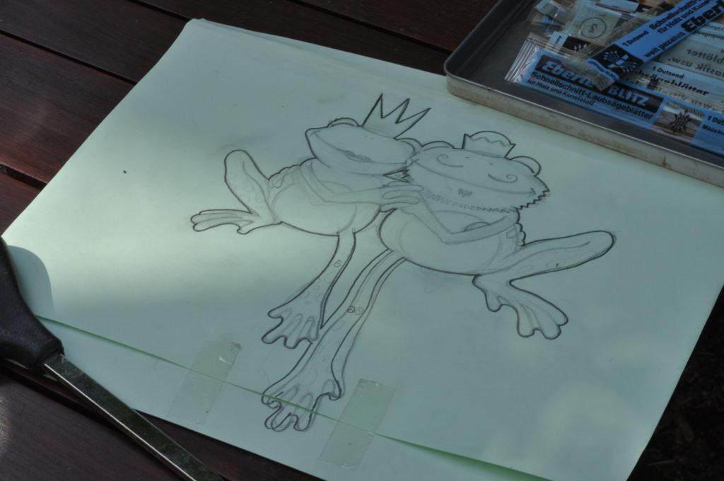 Dank Saschas Fantasie ist die Skizze schnell entworfen.