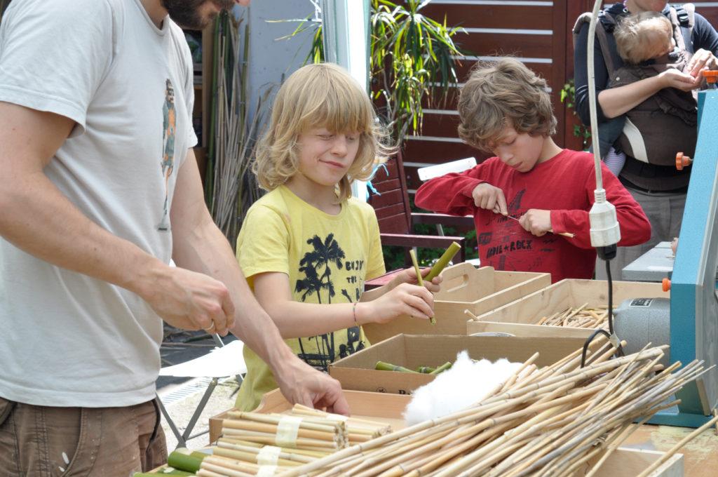 Wildbienenhaus gemeinsam bauen 26
