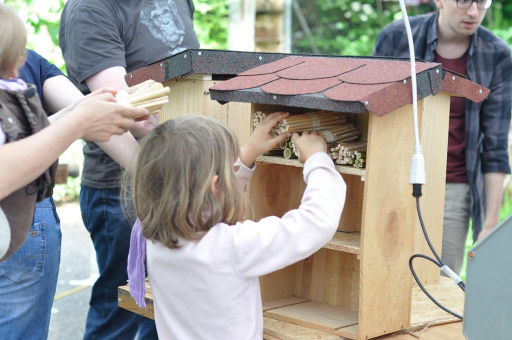 Wildbienenhaus gemeinsam bauen 61