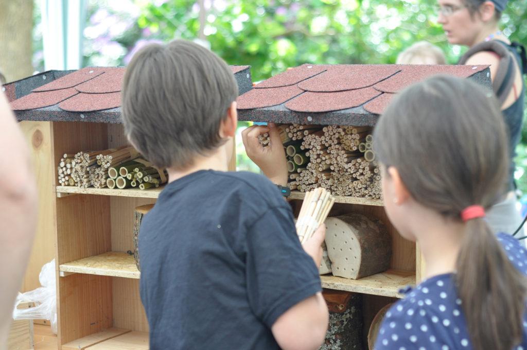 Wildbienenhaus gemeinsam bauen 62